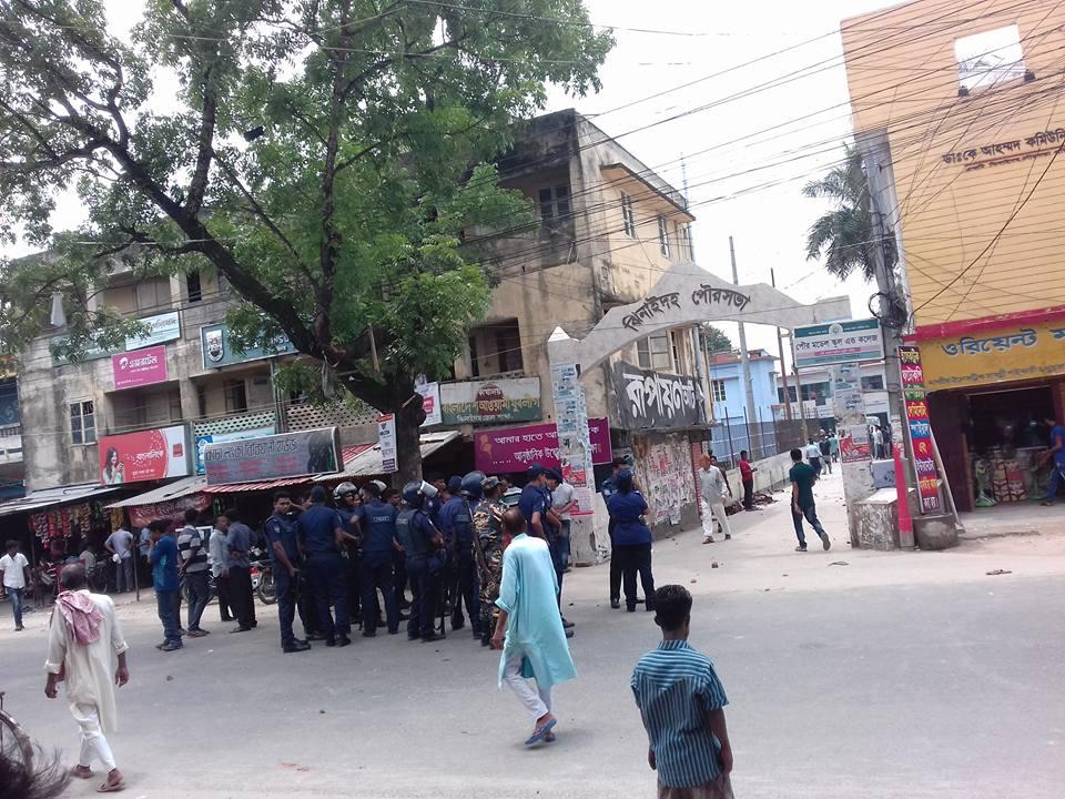 """বিএনপির প্রতিনিধি সভায় দু'গ্র""""পের সংঘর্ষ, ভাংচুর, আহত-১৫"""